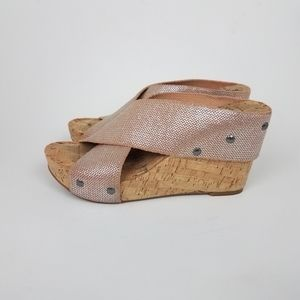 Lucky Brand Miller Platform Cork Wedge Sandals